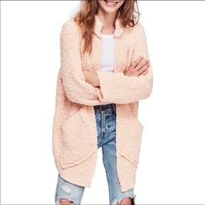 Free People Rare Chunky Knit Waterfront Cardigan